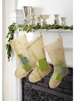 How to make stockings out of sewing patterns.