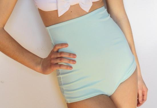 Extra high waist swimsuit bottoms