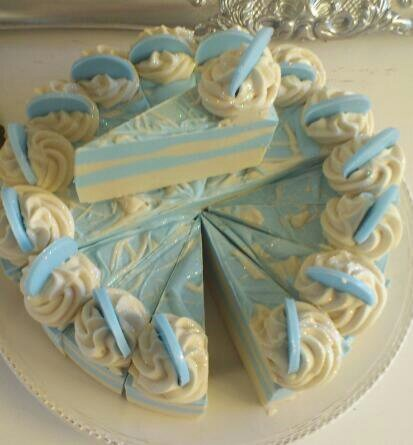 Angel Soap Cake Slice  Handmade Soap JUST PLAIN PREETY