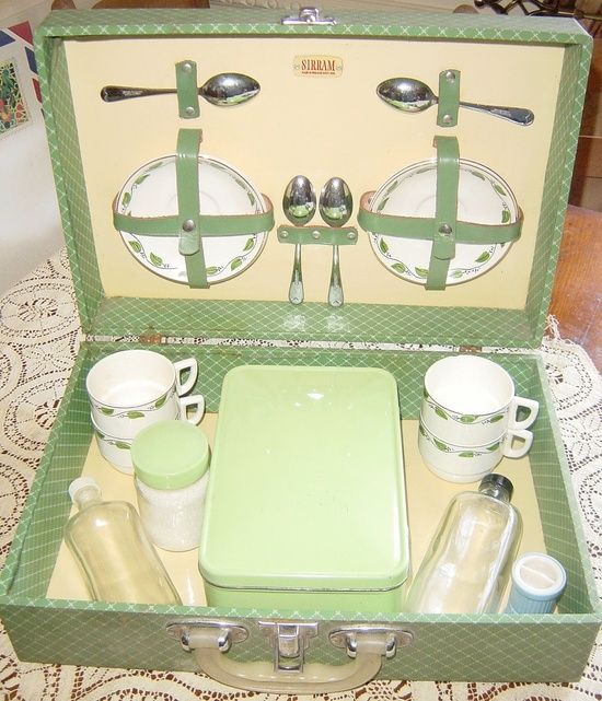 Vintage Antique Sirram Tea Picnic Basket #prepare for picnic #summer picnic #company picnic #picnic