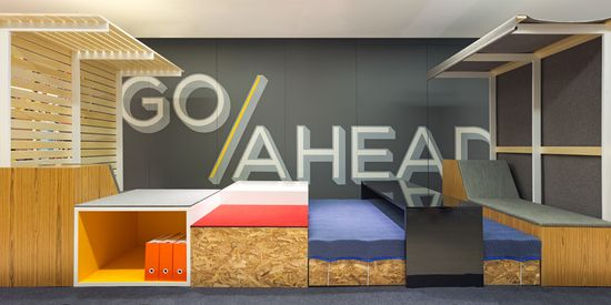 First Office . The Edge, great for up beat fun collaboration areas