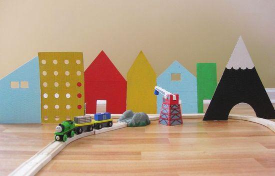 DIY Cardboard Village