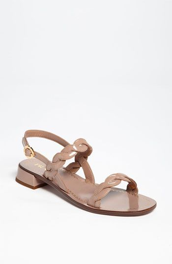 Prada Braided Two Strap Sandal available at Nordstrom