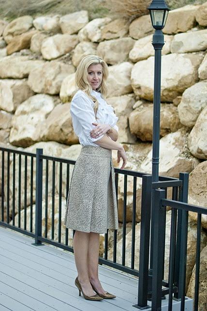 gilded skirt tutorial #skirt