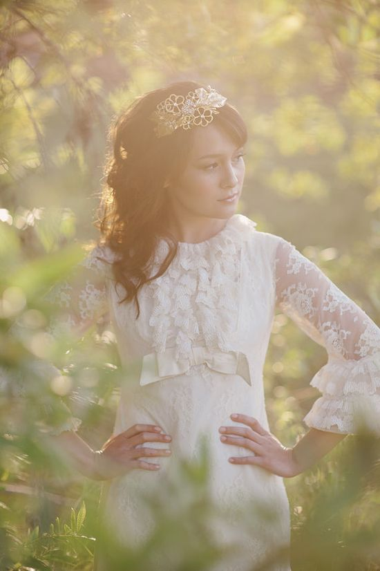 Vintage 1960s Mod Wedding Dress / Size XS and by SwoonShopVintage, $524.00