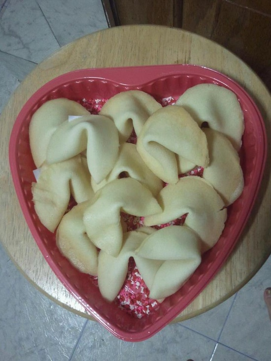 Made romantic fortune cookies for my boyfriend at the time hehe :). Great gift idea!