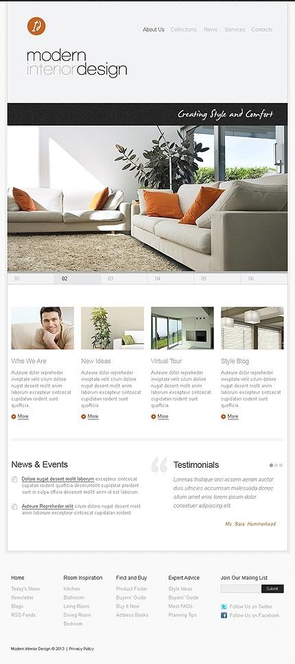 Modern #Interior #Design #Webdesign