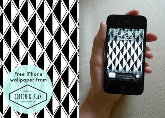 Free iPhone wallpaper pattern from Cotton & Flax