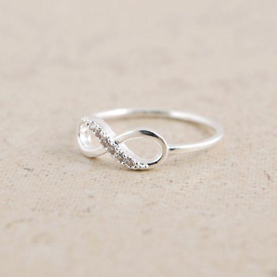 Infinity Ring in Silver by bkandjio on Etsy, $15.00 so cute...