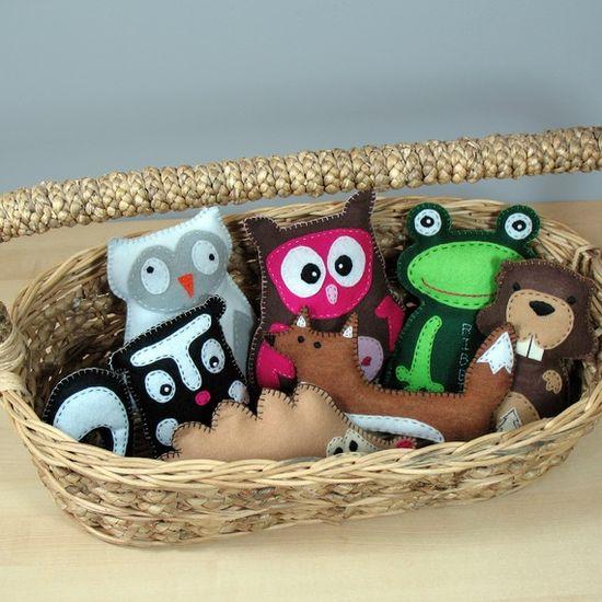Woodland Forest Stuffed Animal Sewing PATTERN by LittleHibouShoppe, $4.00