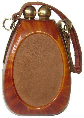 Vintage 1940's Original Caramel Brown Catalin Bakelite Handbag Purse #fashion #accessories #vintage #purse