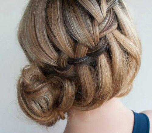 French braided loose bun