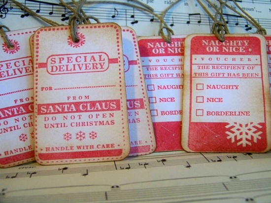 hand made gift tags