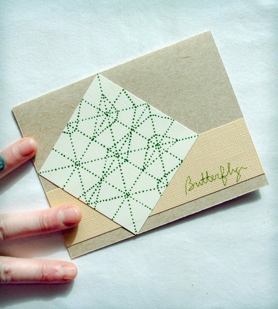 Geometry of a Butterfly Card By JerseysFreshest. An opened up piece of paper that was folded to make a butterfly. Lovely handmade card.