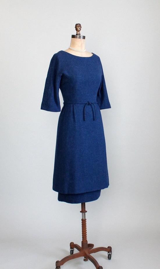 Early 1960s Harvey Berin wool dress