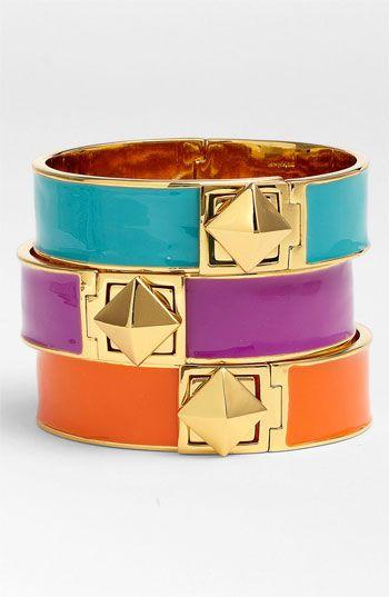 Kate Spade New York 'locked in' stud hinged bangle #stackedwrist #Nordstrom #nordstromweddings