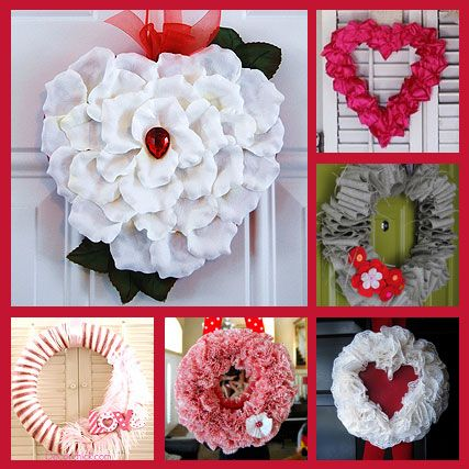 More Valentine Wreaths...
