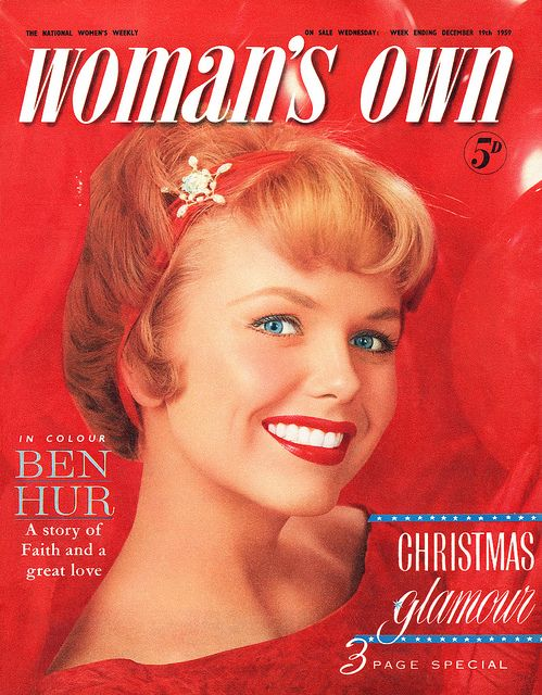 Festive Christmas cover of Woman's Own magazine, December 1959. #vintage #1950s #magazines #Christmas