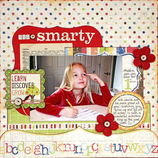 #papercraft #scrapbook #layout #Back-to-school