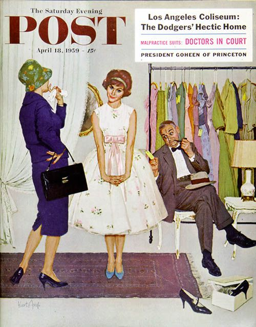 """""""First Prom Dress"""" Kurt Ard April, 18 1959"""