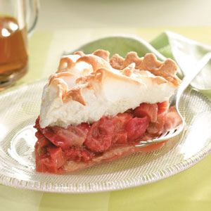 Strawberry-Rhubarb Meringue Pie Recipe from Taste of Home
