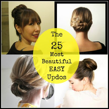 25 Most Beautiful Easy Updos