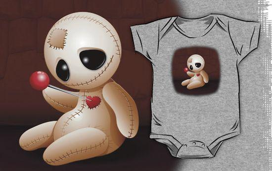 #Cute #Voodoo #Doll #Cartoon in #Love #Kids #Clothes by BluedarkArt