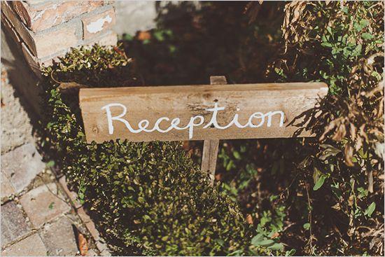 wedding reception sign