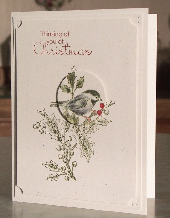 Handmade Christmas Card  Stampin Up BEAUTIFUL by WhimsyArtCards