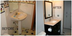 DIY Home Renovations. Our Before and After Bathroom.