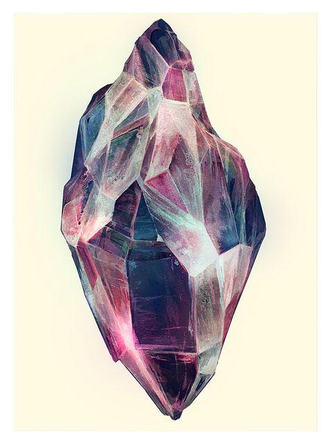 Mineral by Eibatova Karina (Watercolor), via Flickr
