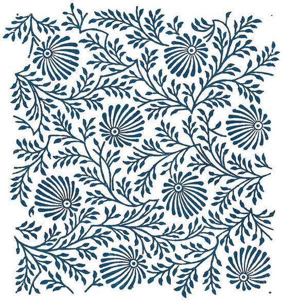 Love this textile design. It would make a fantastic wallpaper.