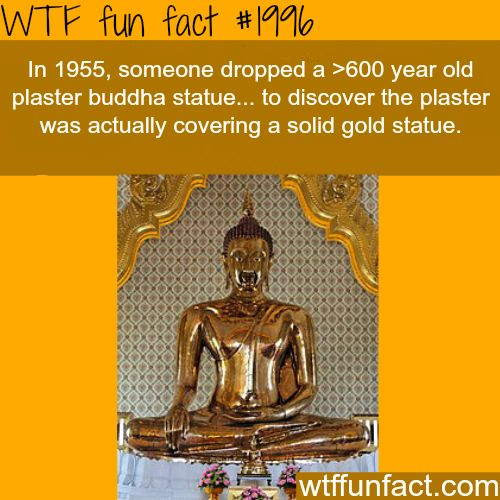 Goldent Buddha statue - WTF fun facts