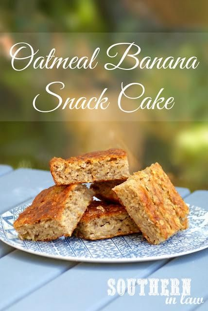 Oatmeal Banana Snack Cake Recipe with Cream Cheese Frosting