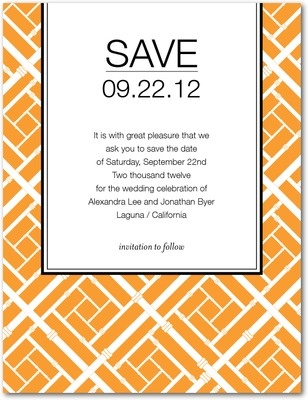 Wedding invitation #wedding #invitations #orange