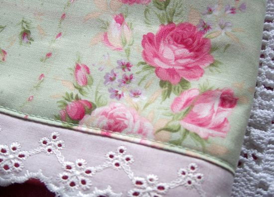 Shabby Cottage Rose decorated towel