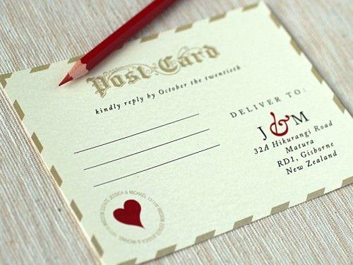 Love Letter-Inspired Wedding Invitations