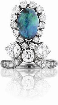 An Art Deco Opal and #Diamond Ring #rings