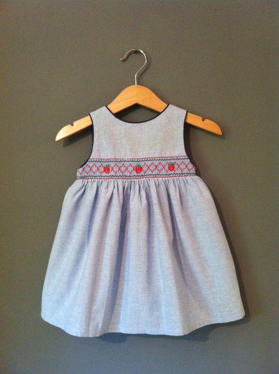 Vintage  Baby Girls Dress Strawberry's