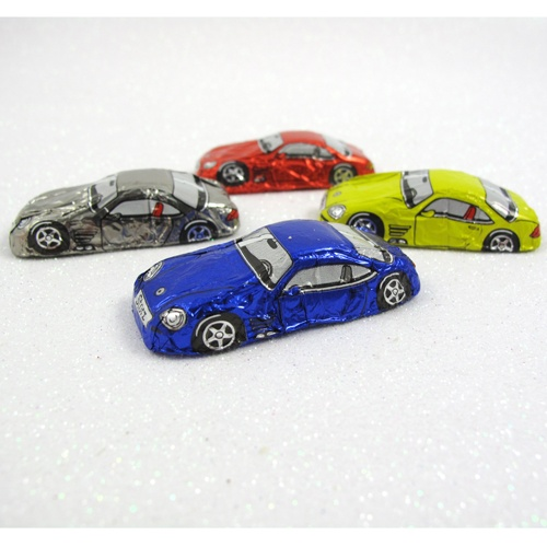Chocolate Sports Cars in foil wrappers, Box of 12 for $9
