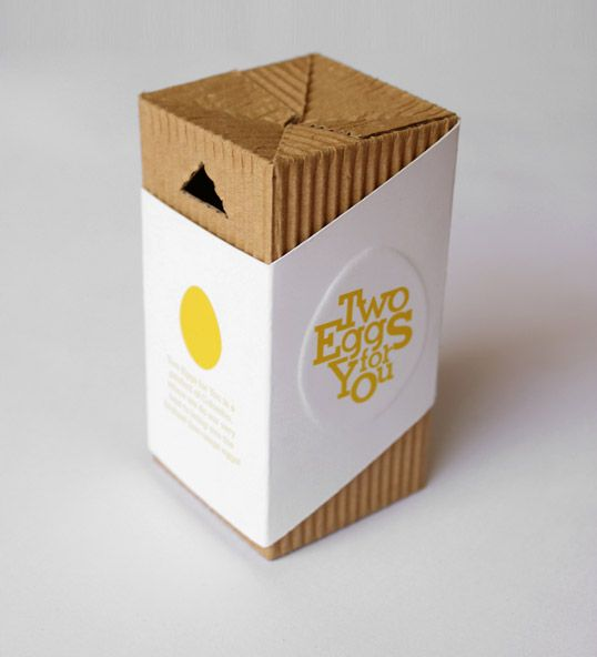 The idea was to create a package of two eggs, ideal for someone living on their own or someone who just wants to make a quick meal and doesn't require the standard 6 eggs.
