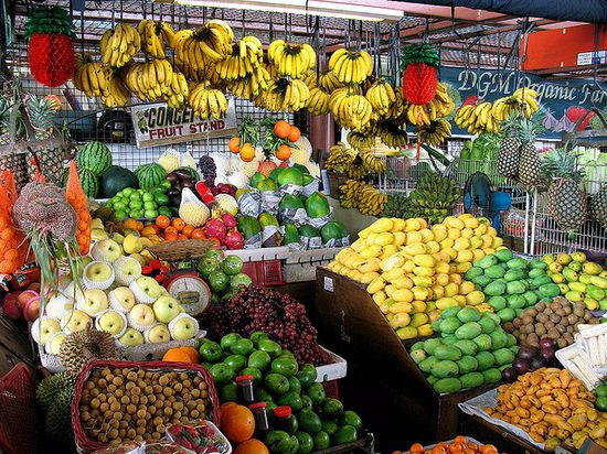 Fruit stand in the Philippines