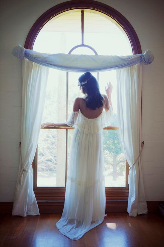 Dreamy off the shoulder wedding dress with by Graceloveslace, $1,200.00