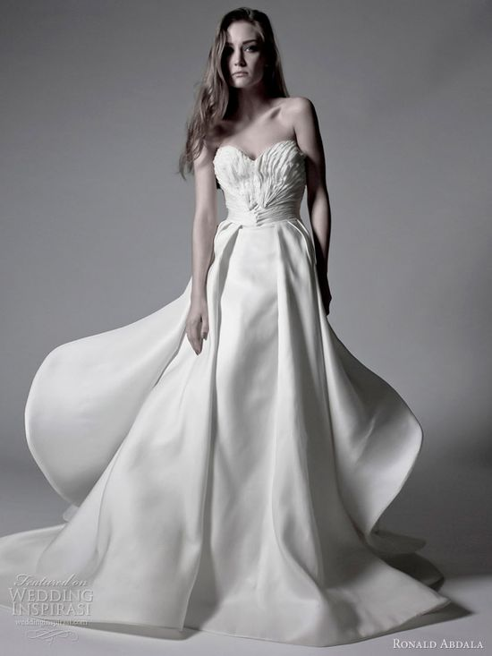 ronald abdala spring 2012 bridal strapless wedding dress,wedding dress, wedding gown, bridal gown, bridal dress, wedding, haute couture