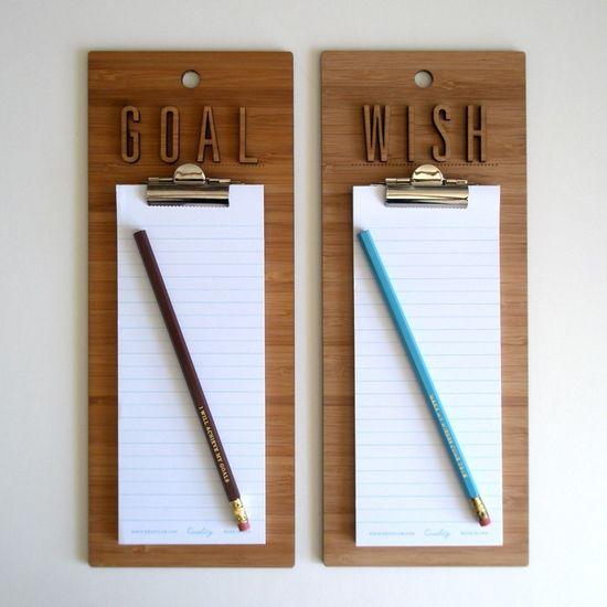 I will achieve my goals - Clipboard. $34.00, via Etsy.