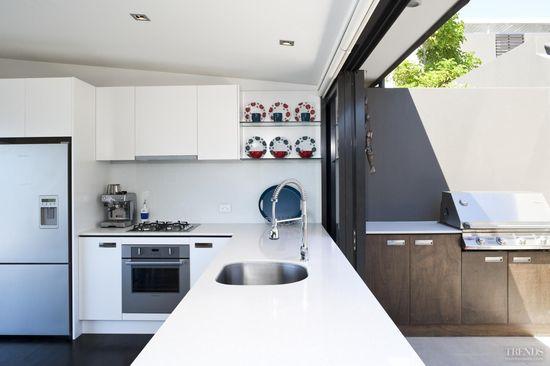 Indoor Outdoor kitchen design.