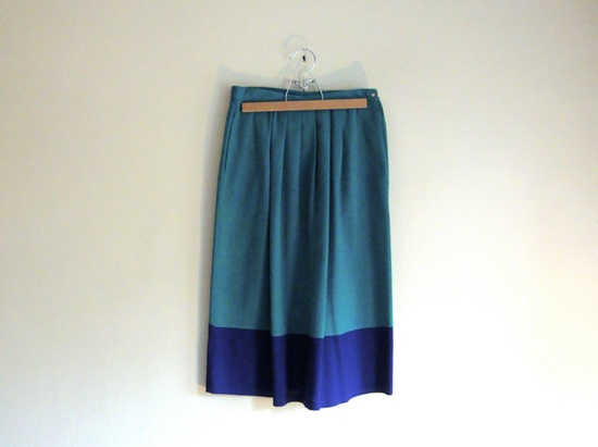 // colorblock skirt
