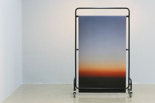// Stephanie Saade, Sunset (Structure 3), 2012. Mixed media; 170 x 100cm.