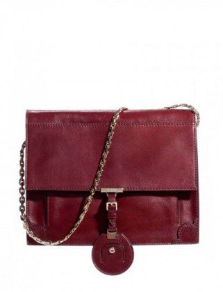 A chain bag in rich oxblood. So ahead of the trends.