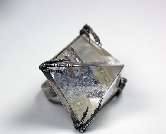 the crystal tomb ring by BloodMilk on Etsy, $250.00